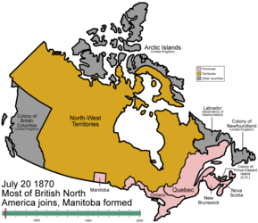 Territorial evolution of Canada