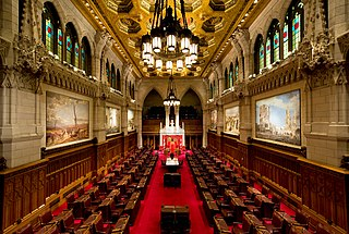 upper house of the Parliament of Canada