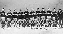 The Canadiens in a group photo after winning the Cup