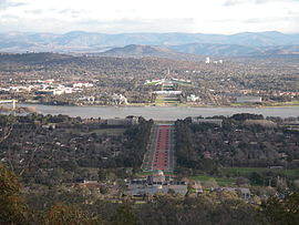 The city center of Canberra