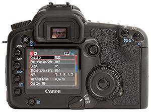 Canon EOS 30D - Back of the Canon EOS 30D camera