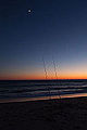Cap Ferret - Arcachon - Océan Atlantique - Picture Image Photography - Moon and sunset - Lune et coucher de soleil (11257248754).jpg