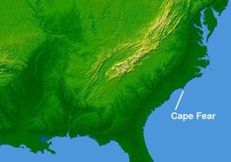 Cape Fear (headland) - Cape Fear, on the coast of North Carolina