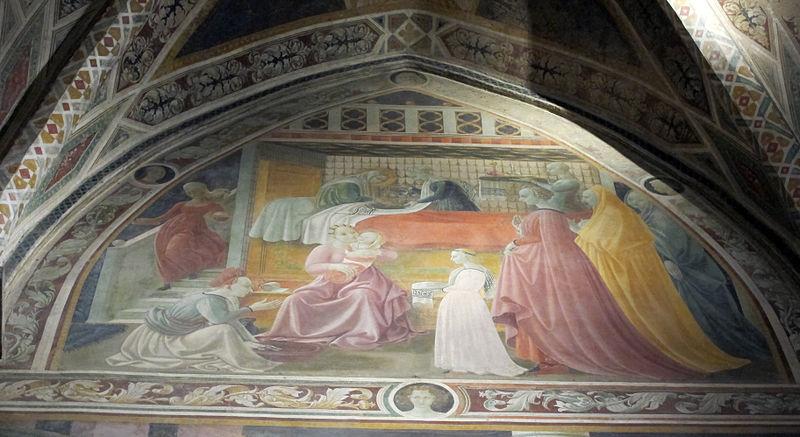 File:Cappella dellassunta, 1435-36, nascita della vergine ...