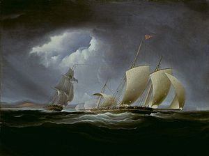 Action of 1 August 1801 - Image: Captureofthe Tripolibythe Enterprise