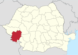 Caras-Severin in Romania.svg