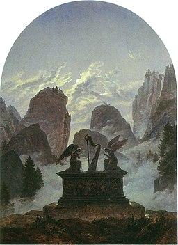 Carl Gustav Carus - The Goethe Monument - WGA4518