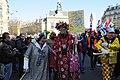 Carnaval de Paris 2011 - Tête du cortège avant le départ - De droite à gauche, Alexandra Bristiel, Basile Pachkoff, Pat le Clown - DSC8272.jpg