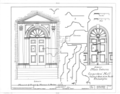 Carpenters' Company Hall, 320 Chestnut Street and Carpenters' Court, Philadelphia, Philadelphia County, PA HABS PA,51-PHILA,229- (sheet 3 of 3).png