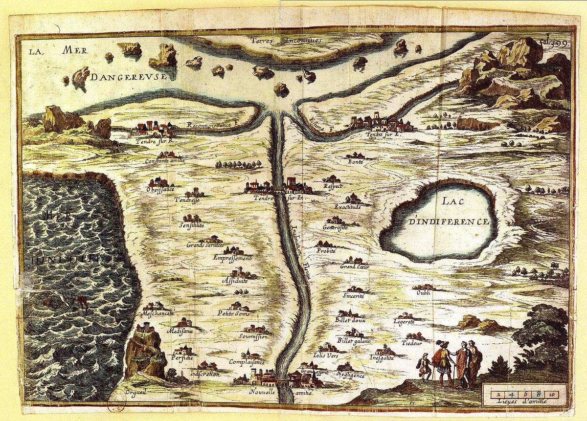 la carte de tendre Map of Tendre   Wikipedia