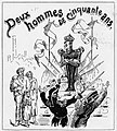 Cartoon depicting the fiftieth anniversary of the King Leopold 2 Of the Belgians.jpg