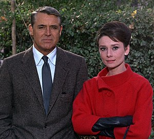 Cary Grant and Audrey Hepburn in Charade 2 (cropped).jpg