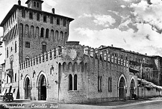 Castle of the Pico Historic building in Mirandola, Italy