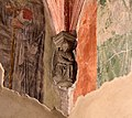 Castiglione olona, palazzo branda, interno, cappella di san martino, peducci di maestro caronese, del 1420 ca. 04.jpg