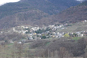 Castione Andevenno - view of the town