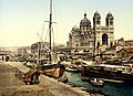 Cathedral and Quay de la Joliette, Marseille, France, ca. 1895.jpg