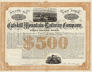 Catskill Mountain Railway - Bond of the Catskill Mountain Railway from the 2nd July 1885
