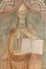 Celestine V on a fresco by Niccolò di Tommaso