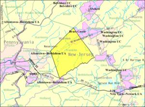 Franklin Township, Warren County, New Jersey - Image: Census Bureau map of Franklin Township, Warren County, New Jersey