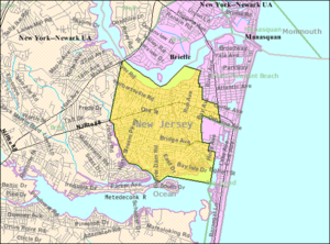 Point Pleasant, New Jersey - Image: Census Bureau map of Point Pleasant, New Jersey
