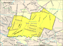 Census Bureau map of Westampton Township, New Jersey