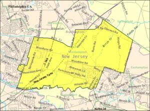 Westampton Township, New Jersey - Image: Census Bureau map of Westampton Township, New Jersey