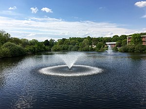 Lawrence Township, Mercer County, New Jersey - Centennial Lake at Rider University