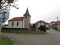 Center with chapel of the Assumption of the Virgin Mary in Vlčatín, Třebíč District.jpg