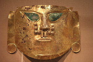 Sican culture - Gold Ceremonial Mask, La Leche Valley, A.D. 900-1100