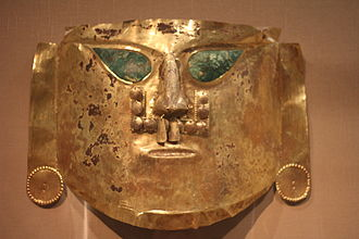 Sican culture - Gold Ceremonial Mask, La Leche Valley, A.D. 900-1100
