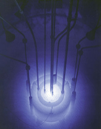 Cherenkov radiation - Cherenkov radiation in the Reed Research Reactor.