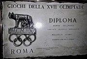 Certificate Olympia 1960 Rom, Bernd Cullmann, Germany Idar-Oberstein
