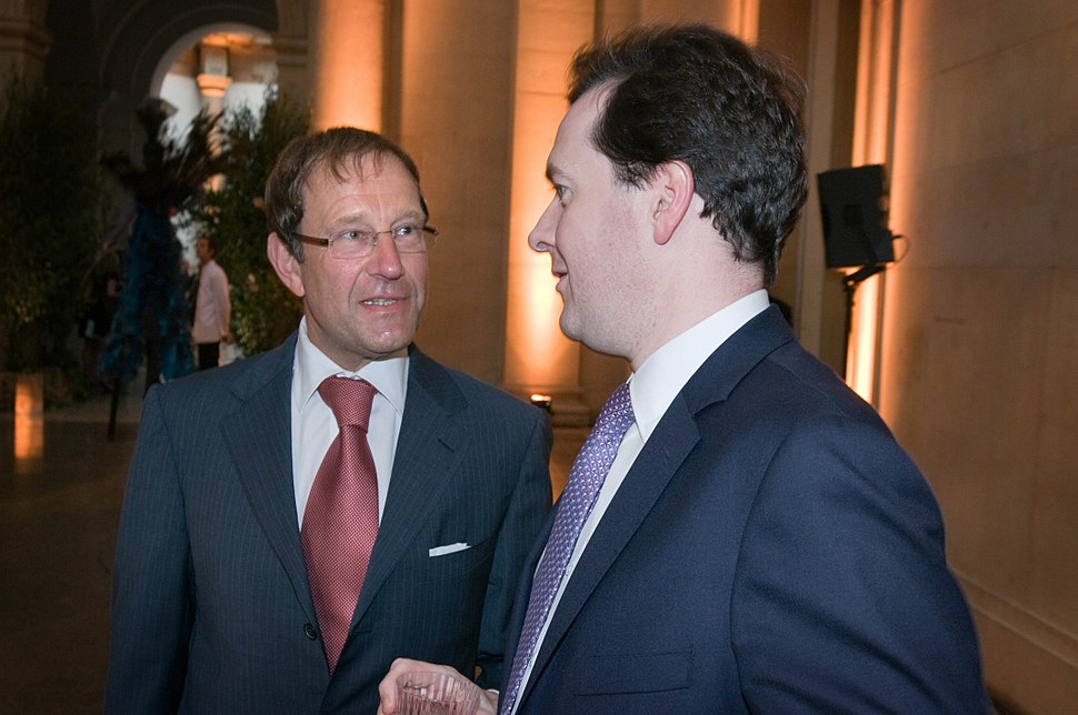 Chancellor George Osborne and Richard Desmond