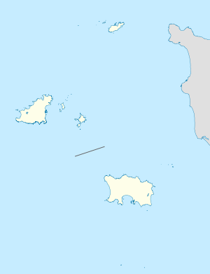 Location map of the Channel Islands