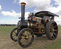"""Charles Burrell Road Locomotive """"Lord Nelson"""" at speed, Gloucestershire Steam & Vintage Extravaganza 2013.jpg"""