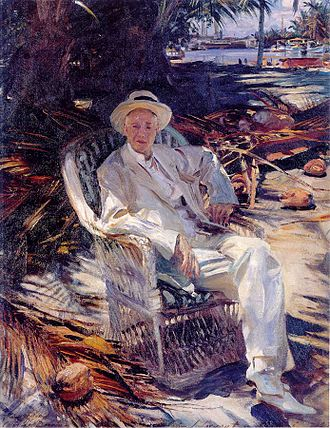 Charles Deering - Charles Deering, at Brickell Point, Miami, 1917, by John Singer Sargent.