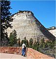 Checkerboad Mesa, East Zion N.P. Hwy 9 4-30-14t (14292575634).jpg