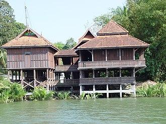 Neobalanocarpus - Chengal house in the museum in Kuala Terengganu, 2005