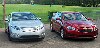 Chevrolet Volt - Chevrolet Volt (left) and Chevrolet Cruze Eco (right)