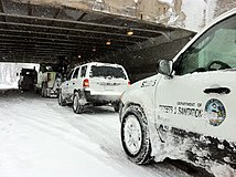 Chicago Dept of Streets and Sanitation Vehicles under Fullerton and Lake Shore Drive feb 2 2011.JPG