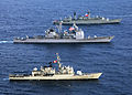 Chilean frigate, US cruiser and Peruvian frigate 050711-N-4374S-005.jpg
