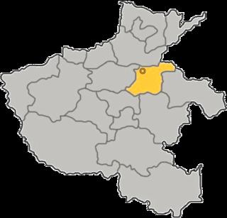 Lage Kaifengs in Henan