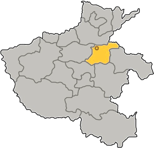 Location of Kaifeng City jurisdiction in Henan
