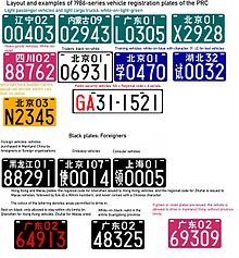 Vehicle Registration Plates Of China Wikipedia