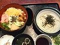 Chirashizushi and udon by torus in Tokyo.jpg