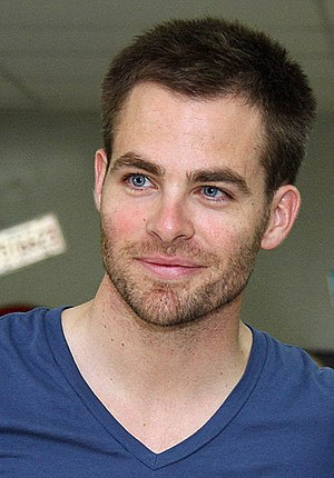 Chris Pine poses for a photograph at Camp Arif...