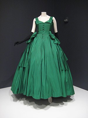 Ball gown - Christian Dior ball gown, 1954 at the Indianapolis Museum of Art.