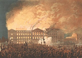 1884 in Denmark - 3 October: Fire of Christiansborg Palace