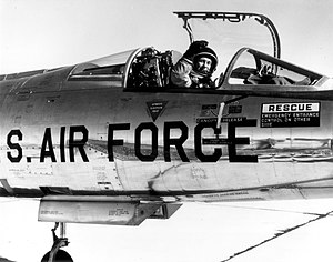Lockheed NF-104A - Chuck Yeager in the cockpit of an NF-104A, 4 December 1963