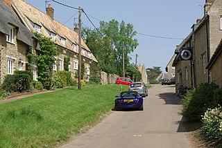 Wadenhoe Village in Northamptonshire, England